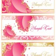 Abstract set frame with hearts — Imagen vectorial