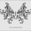 Abstrac t stylized  butterfly — Image vectorielle