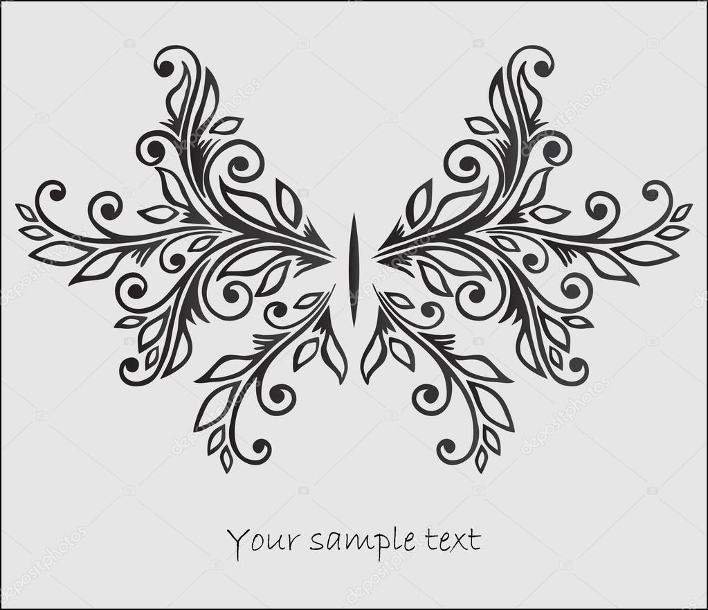 Abstrac t stylized  butterfly  Stock Vector #13644531
