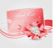 Cards templates with heart — Vector de stock