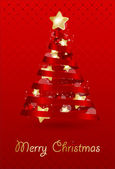 Vánoční vektorové ilustrace. — Stock vektor