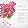 Romantic illustration with tulips — Stock Vector