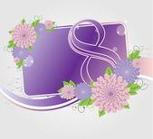 Plantillas tarjetas florales — Vector de stock