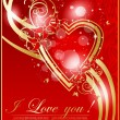 Abstract valentine card with heart — Image vectorielle
