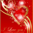 Abstract valentine card with heart — Vector de stock #21721205