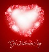 романтический иллюстрация с сердцем — Cтоковый вектор