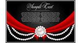 Αφηρημένη ευχετήρια κάρτα με μαργαριτάρια — Διανυσματικό Αρχείο