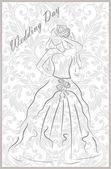 Bridal dress — Stock Vector