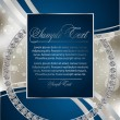 Abstract blue card - Imagen vectorial