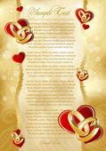 Astratto cartolina d'oro per il design — Vettoriale Stock