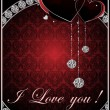 St. Valentine's Day background - Image vectorielle