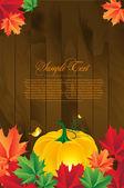 Fundo do outono com folhas — Vetorial Stock
