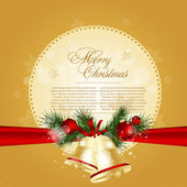 Beautiful christmas background with place for text. Vector illus — Stock Vector