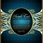 Vintage blue background — Stock Vector #5578650