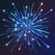 Blue vector  fireworks — Stock Vector