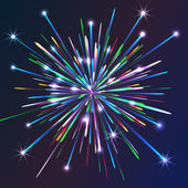 Colorful vector fireworks — Stock Vector