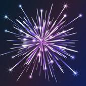 White vector fireworks — Stock Vector