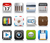 App icon set vector — Vetor de Stock