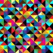 Seamless geometric pattern with triangles - Stockvectorbeeld