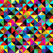 Seamless geometric pattern with triangles — Stock Vector