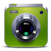 Green Camera Icon — Stock Vector