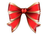 Red and gold vector gift bow — Stock Vector