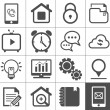 Mediand communication outline icon set — Stock Vector #26722537