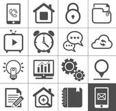 Media and communication outline icon set — Stock Vector