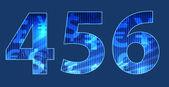 Blauen zahlen mit zufälligen textur — Stockvektor