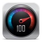 Speedometer icon. Vector illustration — Stock Vector #29600727