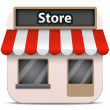 Vector store icon — Stock Vector