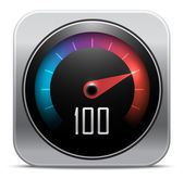 Speedometer icon. Vector illustration — Stock Vector