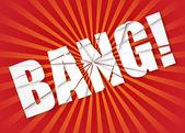 Bang - exploze. vektorové ilustrace — Stock vektor