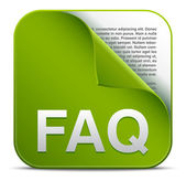 Green faq vector icon — Stock Vector