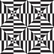 Seamless geometric pattern in op art design. Vector art. — Stock Vector