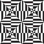 Seamless geometric pattern in op art design. Vector art. — Stock Vector #31165209