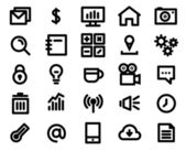 Set di icone linea nera. illustrazione vettoriale — Vettoriale Stock
