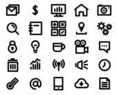 Black line icon set. Vector Illustration — Stock Vector