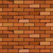 Vector red brick wall seamless background — Stock Vector #34385497