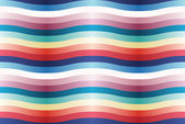 Vector seamless pattern with color wavy strips. — Stock Vector