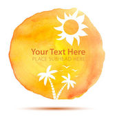Summer Abstract Background on Watercolor Texture — Stockvektor