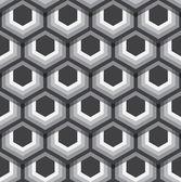 Hexagons texture. Seamless geometric pattern. Vector art. — Stock Vector