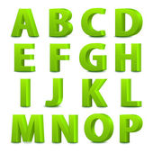 Big green letters standing — Stock Vector