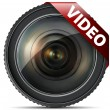 Video lens - Stock Vector