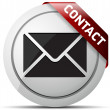 E-mail grey  icons with red ribbon — ベクター素材ストック