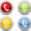 Coloured phone vector icons — Stock Vector #17209729