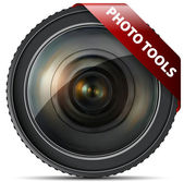 Photo tools lens — Stock Vector