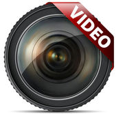 Video lens — Stock Vector