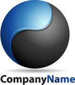 Vector logo azienda — Vettoriale Stock