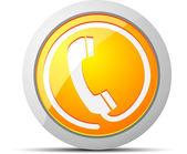 Phone Vector Button — Stock Vector